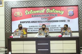 Ops Aman Nusa II, Kabaharkam Polri Bersama Kapolda Sumut Kunjungi Polres Serdang Bedagai