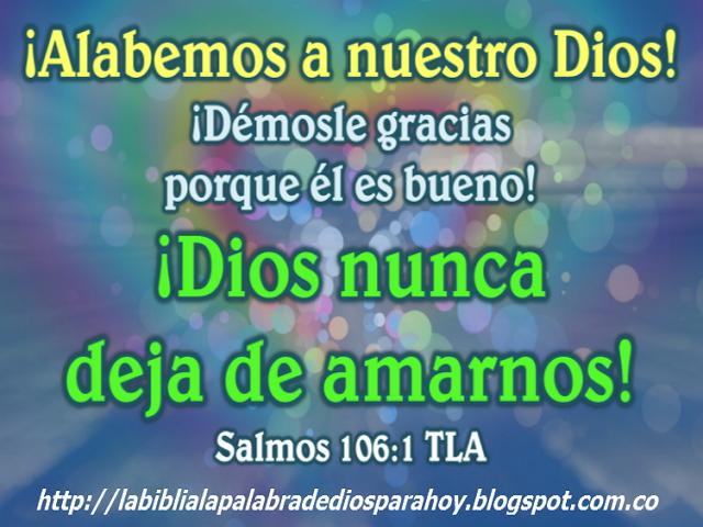Pasaje biblico del dia de hoy-Salmos 106 1