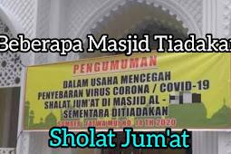 Beberapa Masjid Tiadakan Sholat Jumat