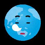 地球のイラスト(寝ている顔)