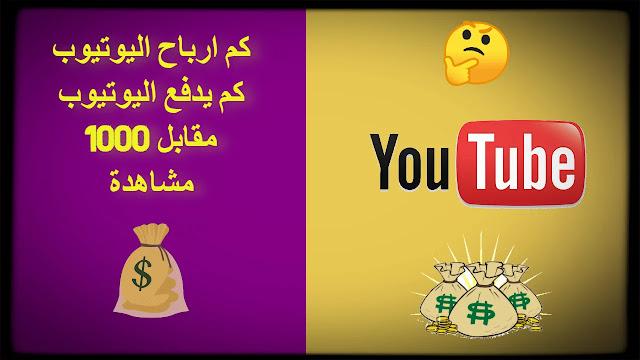 كم ارباح اليوتيوب | كم يدفع اليوتيوب مقابل 1000 مشاهدة