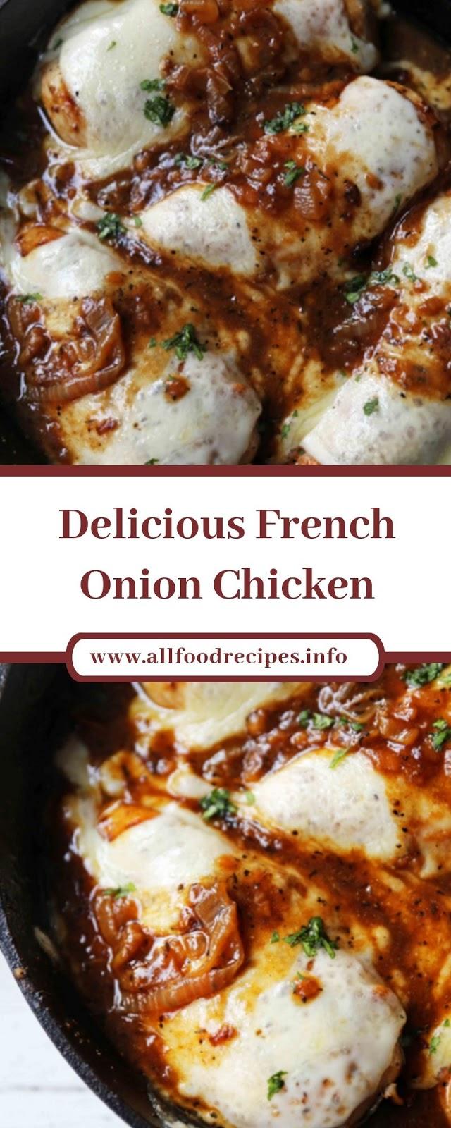 Delicious French Onion Chicken