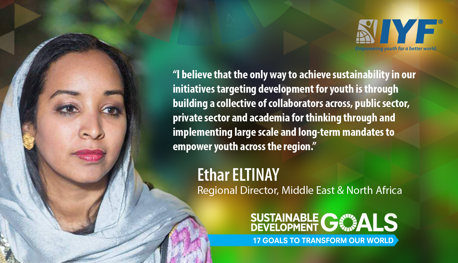 Ethar ELTINAY, Regional Director IYF Middle East & North Africa