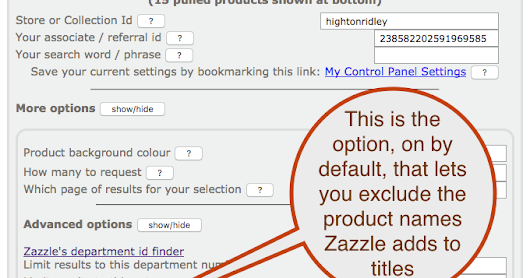 Now exclude Zazzle-added product names from product titles in Nifty