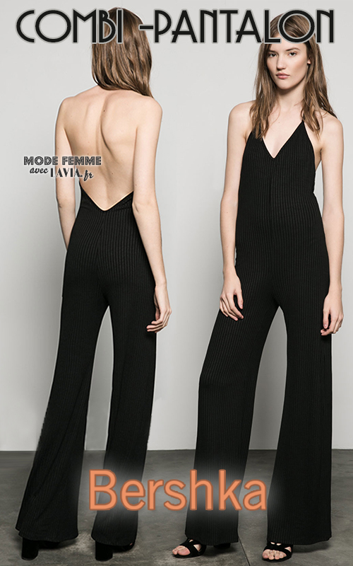 Pantalon Dos Berksha Combinaison Nu Noire 80wOknP