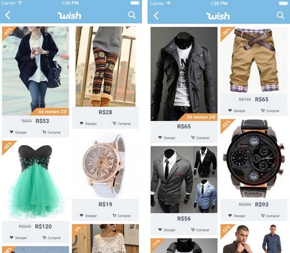 283fdb8f8da Mais de 100 milhões de pessoas usam e abusam do Wish como shopping online!  Assim que você criar uma conta