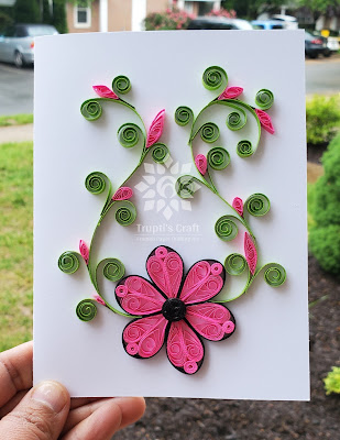 Paper Quilling Flower Card