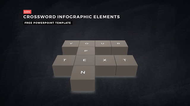 Crossword Puzzles Infographic Elements for PowerPoint Templates with Dark Background Slide 2