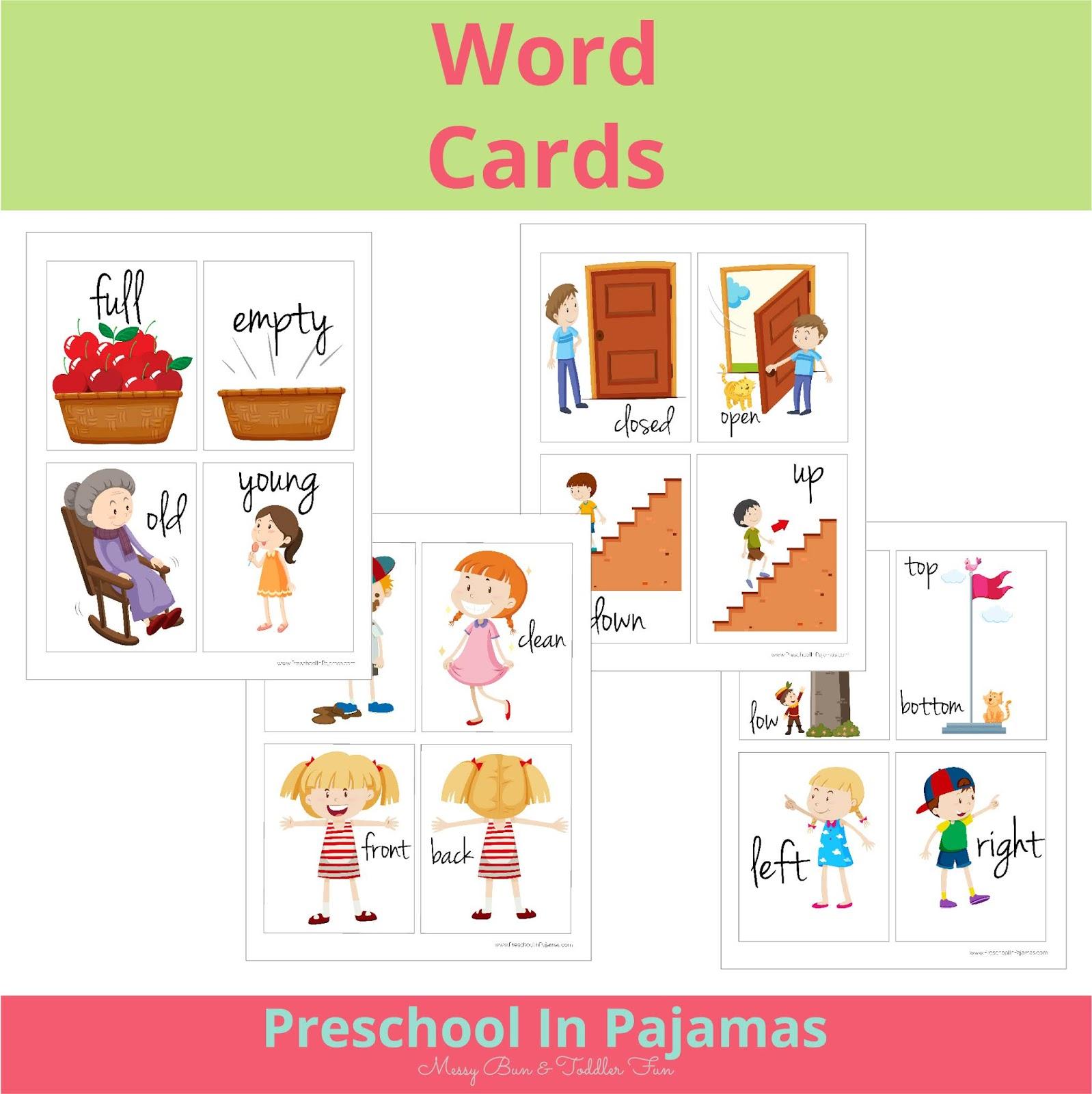 Free Printable Word Cards