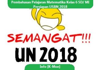 Rangkuman Serta Pembahasan Pelajaran Matematika Kelas 6 SD/ MI Persiapan USBN 2018