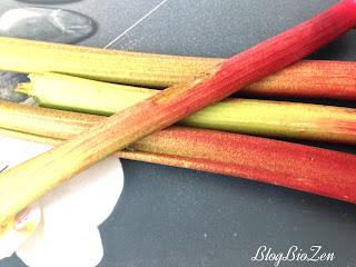 Compotée de rhubarbe bio