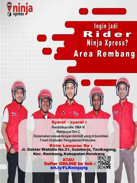 Lowongan Kerja Rider Ninja Express Rembang
