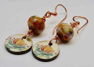 pumpkin earrings by BayMoonDesign