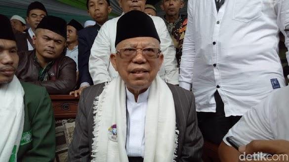 Ma'ruf Amin Soal Tuduhan ke Jokowi: PKI Mata Lu!