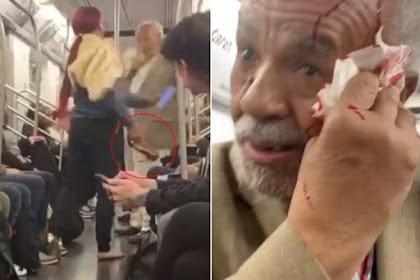 Pria Usia 79 Tahun Berkhotbah di Kereta Diserang Dengan Sepatu Hak Tinggi oleh Seorang Wanita (Video)