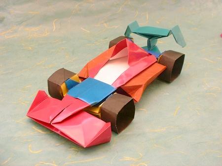 Origami Car Formula1 Kawahata 3D