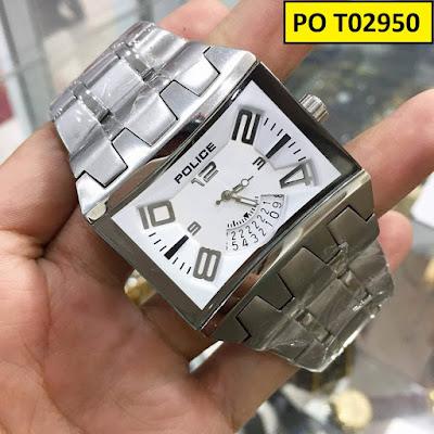 Đồng hồ nam dây inox trắng PO T02950
