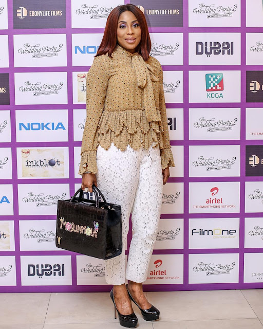 Picture Of Mo Abudu At Movie Premiere Of Wedding Party 2 Has Got Fans Talking