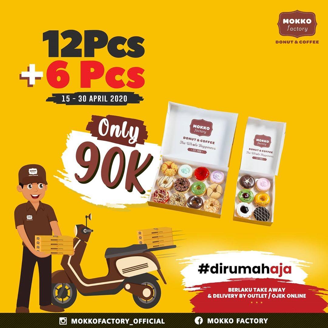 Promo Mokko Factory 12 Pcs + 6 Pcs Donuts Rp 90 Ribu Ramadhan DiRumahAja