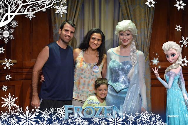 Encontro com Anna e Elsa Frozen