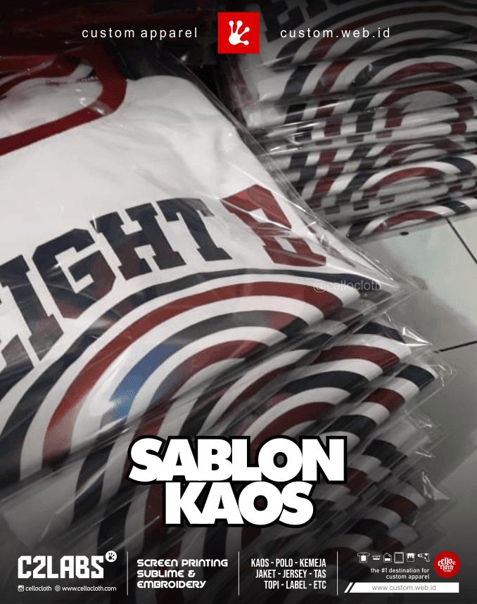 Sablon Kaos Kelas Desain by Request Kirim ke Seluruh Indonesia