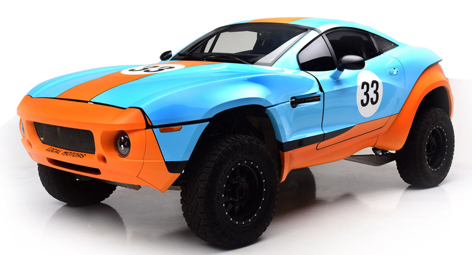 Local Motors Rally Fighter In Gulf Livery Is Something Else
