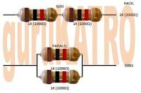 Menghitung seri dan paralel Resistor