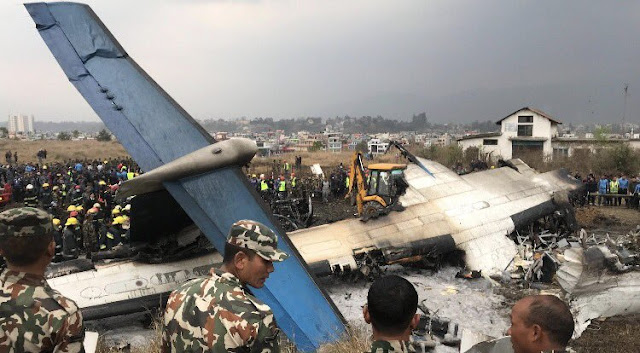 At least 38 dead after Bangladeshi plane with 67 passengers crashes and bursts into flames at airport in Nepa