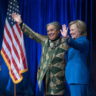 Hilary clinton with Marian Wright Edelman