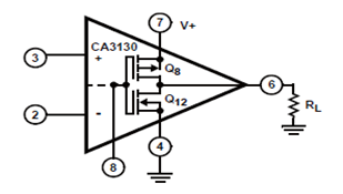 CA3130 Single Power Supply Operation Circuit Schematic