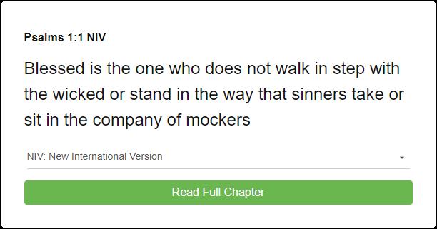 Psalm 1:1 NIV