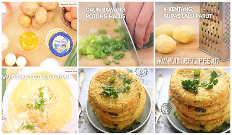 Resep Membuat Pancake Kentang Keju. Enak, Gurih dan Empuk
