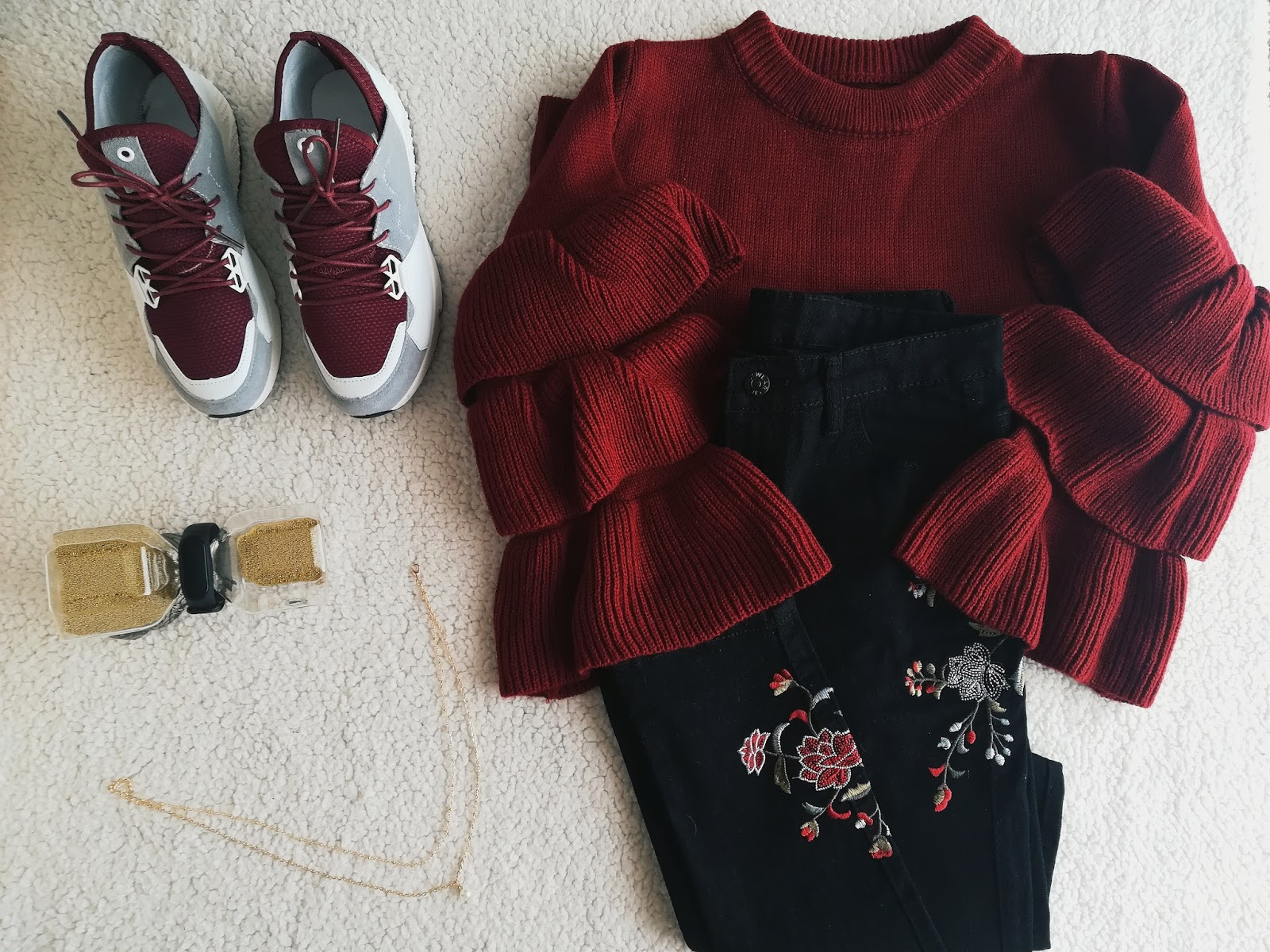 balck and red outfit o blog da mo