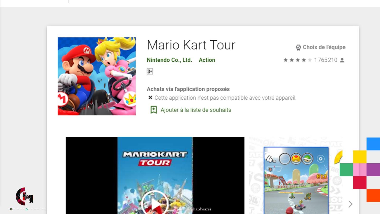 لعبة Mario Kart Tour للأندرويد