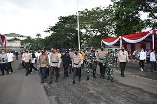 Kasilog Kasrem 043/Gatam ikuti Apel Gelar Pasukan Ops Ketupat Krakatau 2021