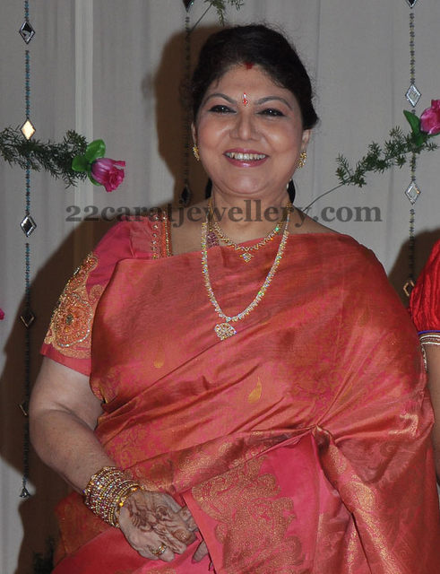 Y Vijaya In Diamond Long Chain Jewellery Designs