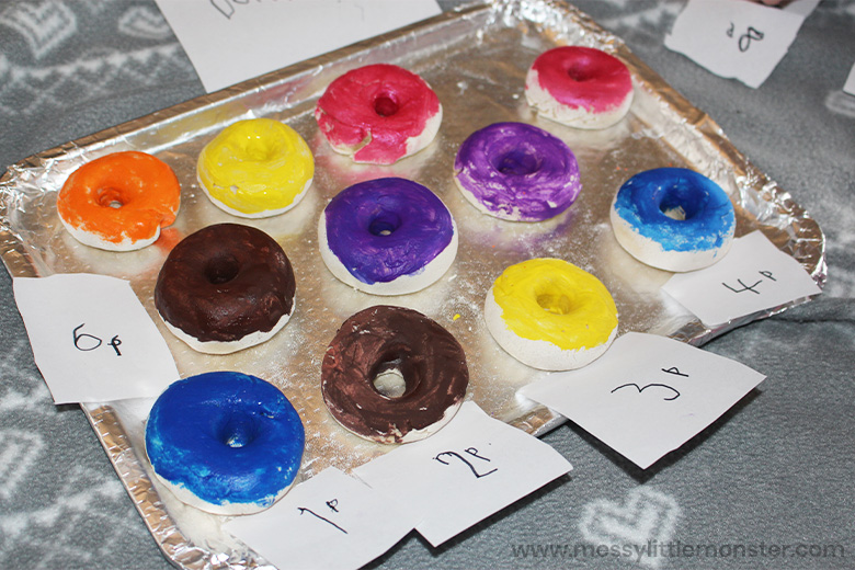 how to set up a pretend play donut shop
