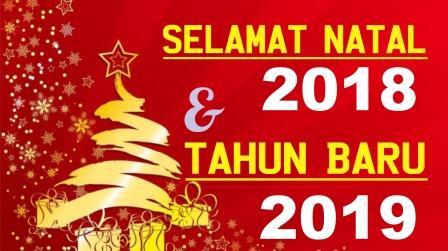 Desain Banner Ucapan Selamat Natal dan Tahun Baru 2019 cdr