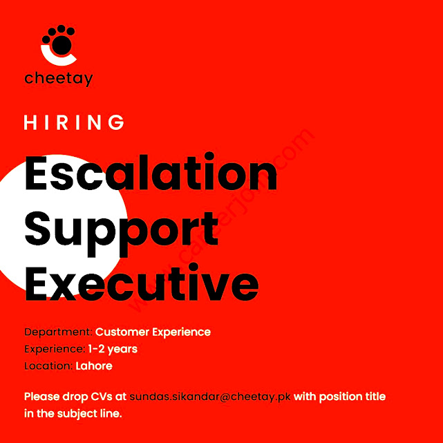 Cheetay Logistics Private Limited Latest  Jobs Escalation Support Executive