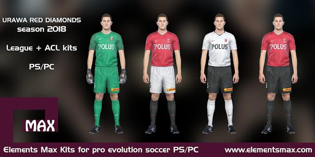 Urawa Reds PES Kits 2018