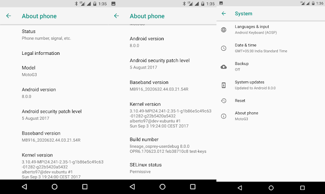 Unofficial Lineage OS 15 based on Android Oreo is now available for the Moto G 3rd Generation
