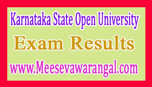 Karnataka State Open University B.Com IInd Year Aug/Sep 2016 Exam Results