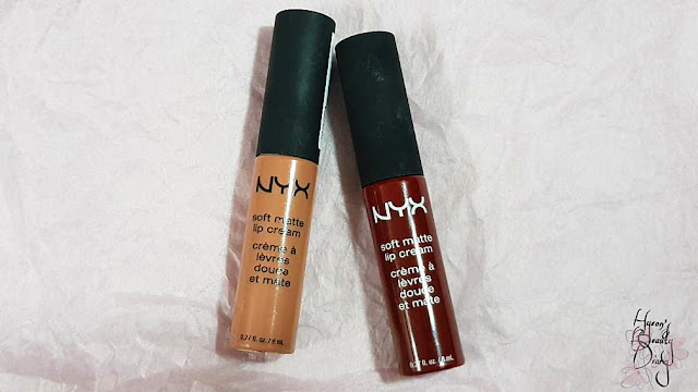 Review; NYX's Soft Matte Lip Cream SMLC (04 London, 27 Madrid)
