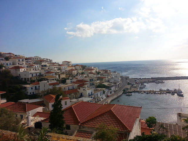 Batsi, the town we stayed in on Andros
