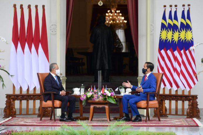 Presiden Jokowi Sambut PM Malaysia Muhyiddin Yassin di Istana Merdeka