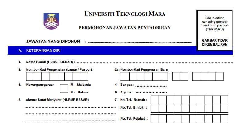 Jawatan Kosong Terkini di Universiti Teknologi MARA UiTM ...