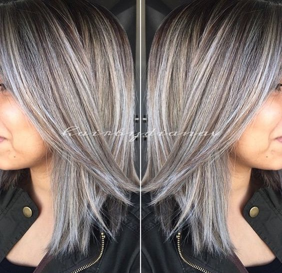 Amazing Grey Silver Highlights The Haircut Web