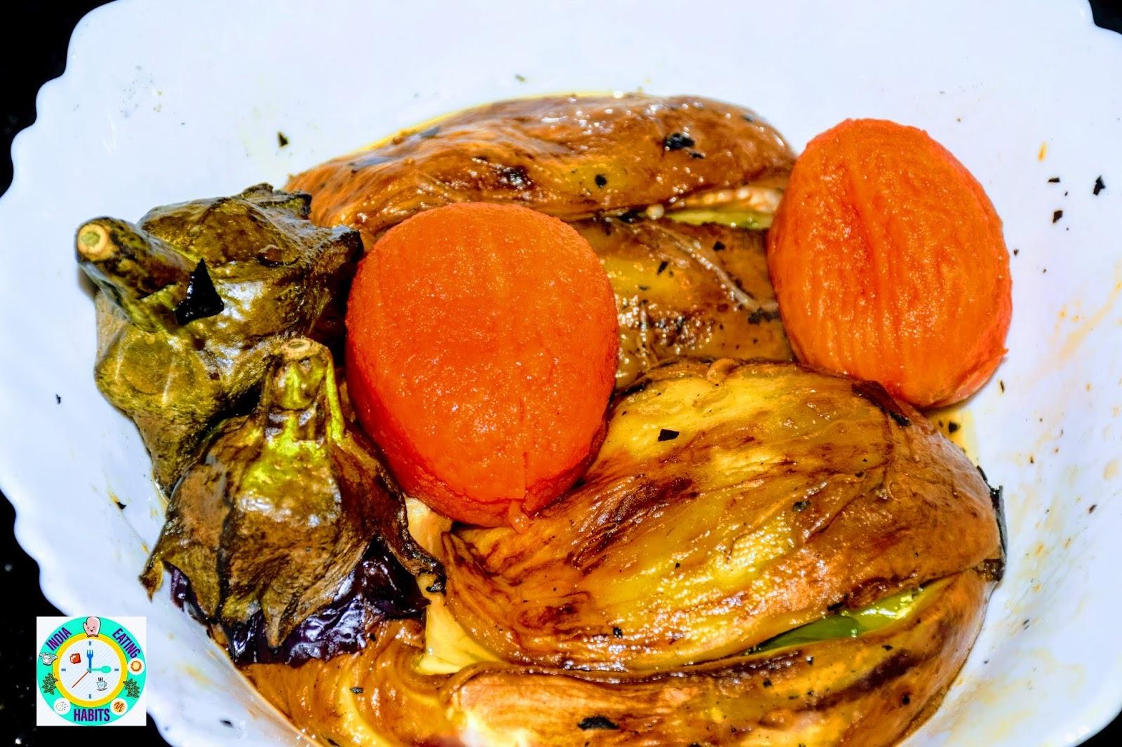 Mashed Eggplant Baingan Ka Bharta Baingan Chokha
