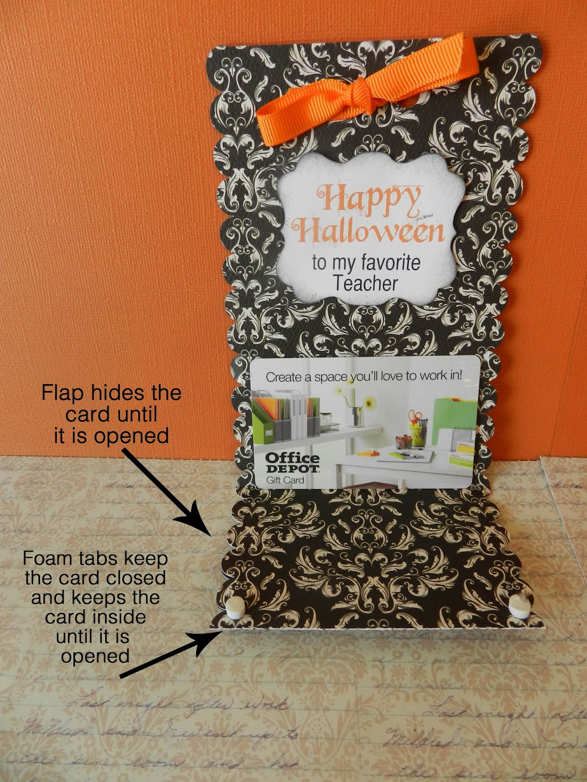 It's Written on the Wall: Halloween Themed Gift Card ...