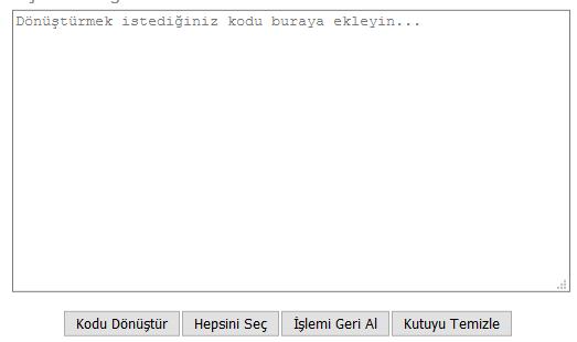 blogger kod dönüştürücü